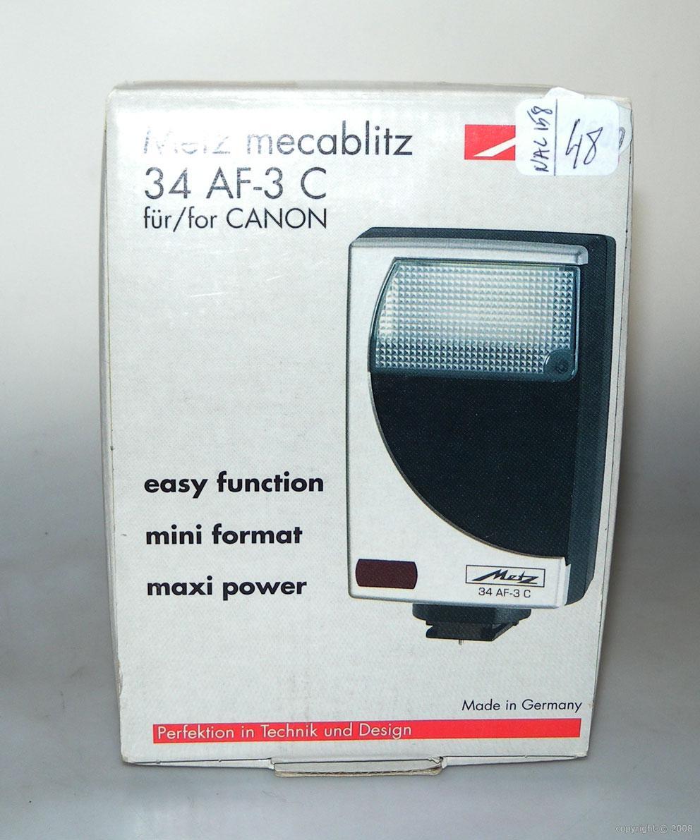 metz flash 34 af 3c pour canon neuf boite destockage metz nac158 vente d appareils photo de. Black Bedroom Furniture Sets. Home Design Ideas